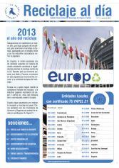 Boletín Reciclaje al Día nº 19, enero 2013