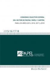 Convenio Colectivo Estatal del sector de Pastas, Papel y Cartón para los años 2015, 2016, 2017 y 2018