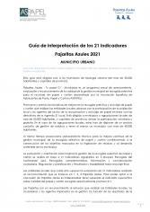 Guía de interpretación para MUNICIPIOS URBANOS de los 21 indicadores Pajaritas Azules 2021