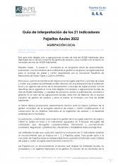 GUÍA DE INTERPRETACIÓN PARA AGRUPACIONES LOCALES DE LOS 21 INDICADORES PAJARITAS AZULES 2022